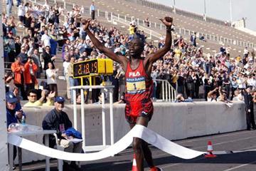 Saina wins the Athens Marathon (Intime/Athens Marathon)