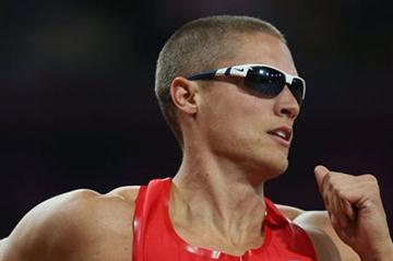 Trey Hardee of the United States in action during the Men's Decathlon 400m Heats on Day 12 of the London 2012 Olympic Games at Olympic Stadium on August 8, 2012 (Getty Images)