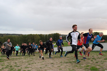 Runners test out the course for the IAAF/Mikkeller World Cross Country Championships Aarhus 2019 (LOC)