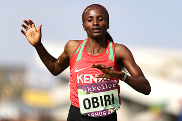 Hellen Obiri in the senior women's race at the IAAF/Mikkeller World Cross Country Championships Aarhus 2019 (Getty Images)