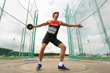 Jan Ruhrmann in the decathlon discus (Getty Images)