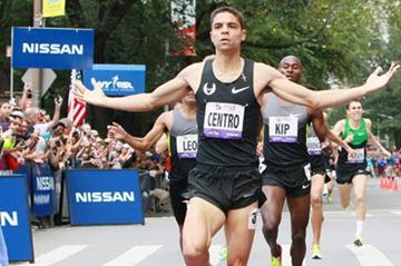 Matt Centrowitz winning the Fifth Avenue Mile (NYRR)