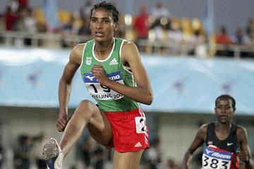 Mekdes Bekele at the 2006 World Junior Championships (Getty Images)