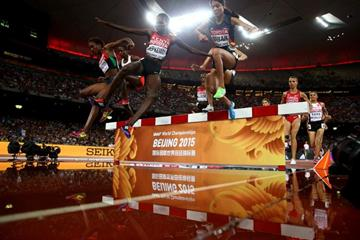 Hyvin Jepkemoi in the 3000m steeplechase at the IAAF World Championships, Beijing 2015 (Getty Images)