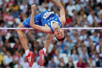 Konstadinos Baniotis of Greece in the high jump (Getty Images)