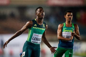 Tshenolo Lemao wins the 100m title at the IAAF World U18 Championships Nairobi 2016 (Getty Images)