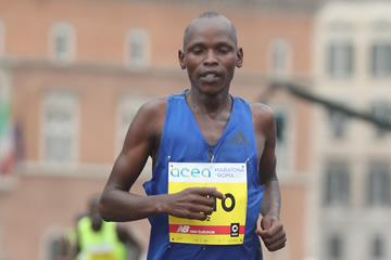 Dominic Ruto at the 2017 Rome Marathon (Giancarlo Colombo)