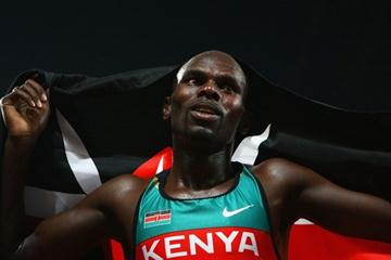 Wilfred Bungei celebrates his Olympic 800m victory (Getty Images)