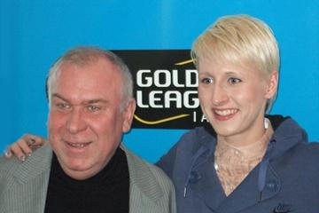 Meeting Director Gerhard Janetzky and Ariane Friedrich at a DKB-ISTAF press conference in Berlin (DKB-ISTAF Organisers)