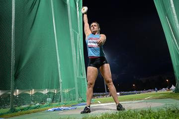 Sandra Perkovic at the 2015 IAAF World Challenge meeting in Zagreb (Organisers)