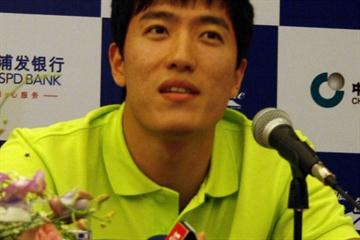Liu Xiang on the eve of the IAAF Diamond League in Shanghai (Bob Ramsak)
