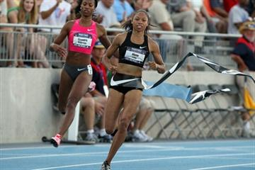 Allyson Felix at the 2010 USATF Nationals (Getty Images)