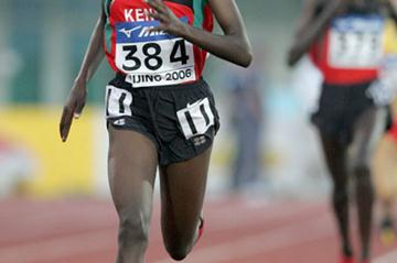 Veronica Nyaruai of Kenya winner of the women's 3000m in Beijing (Getty Images)