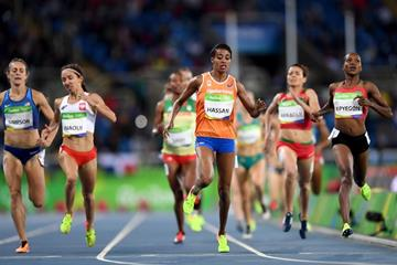 Sifan Hassan and Faith Kipyegon in the 1500m at the Rio 2016 Olympic Games (Getty Images)