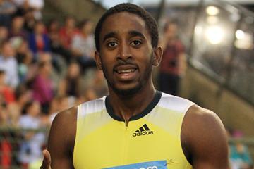 Jehue Gordon after winning the 400m hurdles (Jean-Pierre Durand)