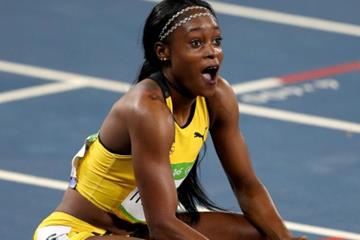 Elaine Thompson after winning the 200m at the Rio 2016 Olympic Games (Getty Images)