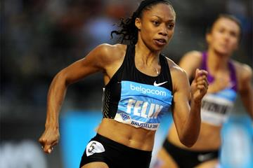 Allyson Felix in action at the IAAF Diamond League meeting in Brussels (Jiro Mochizuki)