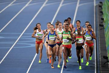 Faith Kipyegon in the 1500m at the Rio 2016 Olympic Games (Getty Images)