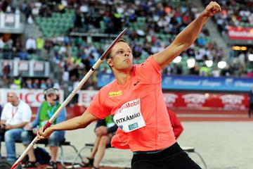 Tero Pitkamaki at the 2014 IAAF Diamond League in Oslo (Mark Shearman)