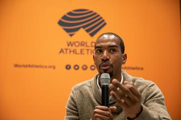 World triple jump champion Christian Taylor in Monaco ahead of the World Athletics Awards 2019 (Philippe Fitte)