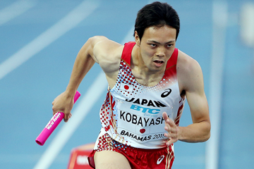 Naoki Kobayashi in the 4x400m at the IAAF World Relays (Getty Images)
