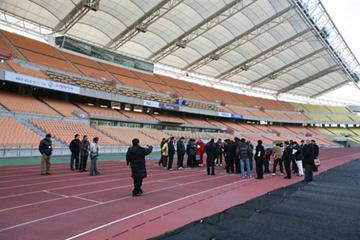 The NTO training session takes place at Daegu stadium, Korea, which will host the World Champs in 2011 (Daegu 2011)