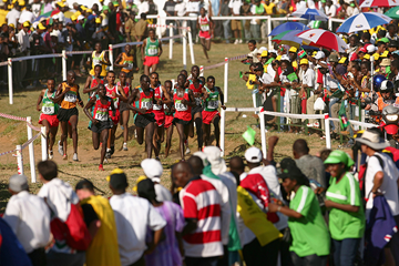 Junior men in action at the IAAF World Cross Country Championships (Getty Images)