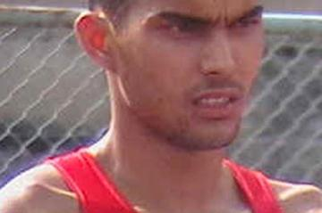 Rajesh Kaliramana after setting a national Youth record of 2.08 (Rahul Nawar)