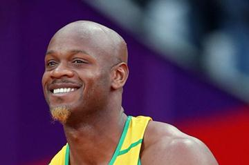 Asafa Powell of Jamaica competes in the Men's 100m Semi Final on Day 9 of the London 2012 Olympic Games at the Olympic Stadium on August 5, 2012 (Getty Images)