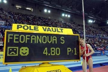 A new world indoor record for Svetlana Feofanova (Getty Images)