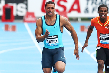 Ryan Bailey in action at the IAAF Diamond League meeting in New York (Getty Images)