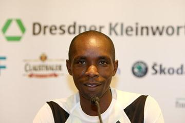 Bernard Barmasai on the eve of the Frankfurt Marathon (Victah Sailer)