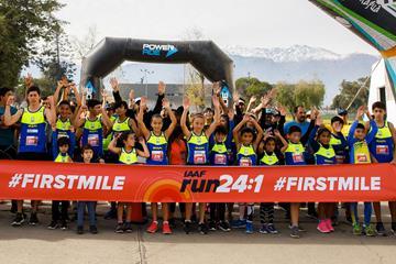IAAF Run 24-1 participants in Santiago, Chile (Organisers)