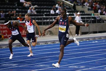 Kerron Clement successfully defends his world 400m Hurdles title (Getty Images)