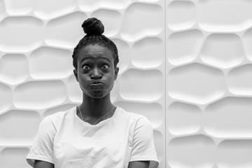 Naa Anang pulling faces during a photo shoot (Michelle Sammet)