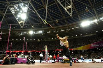 Javelin winner Johannes Vetter at the IAAF World Championships London 2017 (Getty Images)