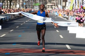 Seboka Negusse wins the Hannover Marathon (PhotoRun.net)