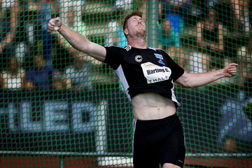 Christoph Harting in the discus at the IAAF World Challenge meeting in Hengelo (AFP / Getty Images)