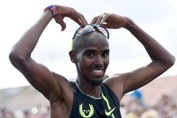 Mo Farah after winning at the 2014 Bupa Great North Run (Getty Images)