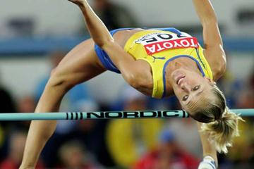 Kajsa Bergqvist in the women's High Jump final (Getty Images)