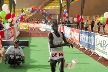Monaco Marathon Men's Race Winner Wilfred Cheserek (Sean Wallace-Jones)