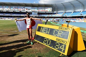 Abdul Hakim Sani Brown at the IAAF World Youth Championships, Cali 2015 (Getty Images)