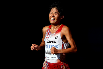 Yuki Kawauchi in the marathon at the IAAF World Championships (Getty Images)