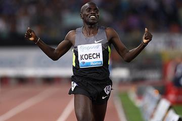 Paul Kipsiele Koech threatens the steeplechase world record in Rome (Giancarlo Colombo)