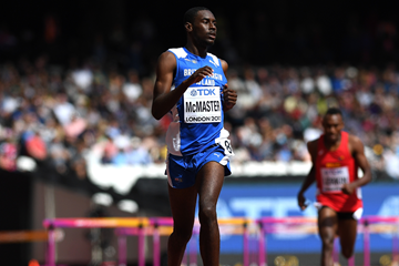 Kyron McMaster in the 400m hurdles at the IAAF World Championships London 2017 (Getty Images)