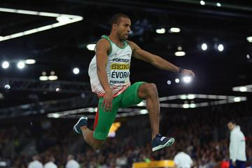 Nelson Evora in the triple jump at the IAAF World Indoor Championships Portland 2016 (Getty Images)