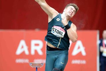David Storl, winner of the shot put at the IAAF Diamond League meeting in Paris (Jiro Mochizuki)