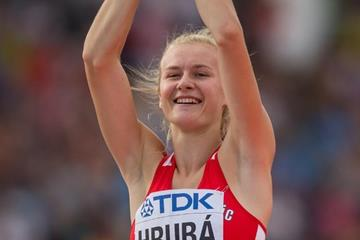 High jump winner Michaela Hruba at the IAAF World U20 Championships Bydgoszcz 2016 (Getty Images)