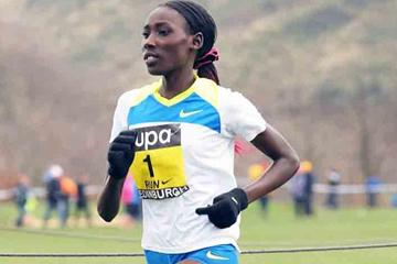 Linet Masai keeps on rolling - en route to a comfortable victory in Edinburgh (Mark Shearman)