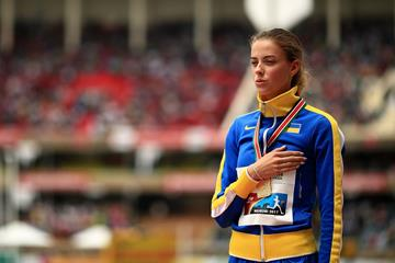 Yaroslava Mahuchikh with her high jump gold medal at the IAAF World U18 Championships Nairobi 2017 (Getty Images)